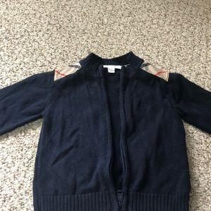 Burberry zip up sweater